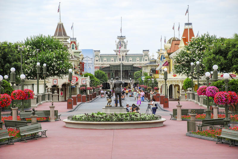 Disney Main Street Etats-Unis photographie stock