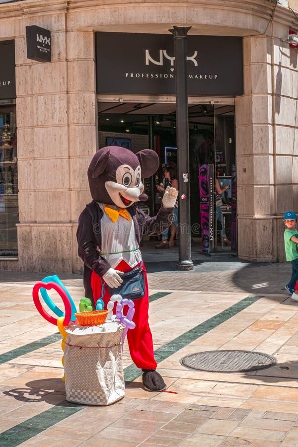 Disney Mickey Mouse costumed charakteru zdjęcia stock