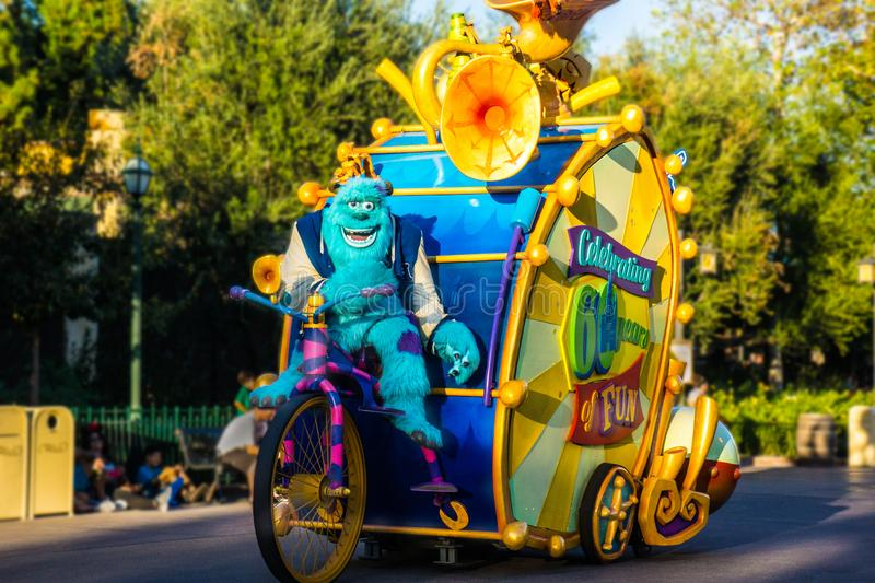 Disney Monsters Inc Parade royalty free stock photography