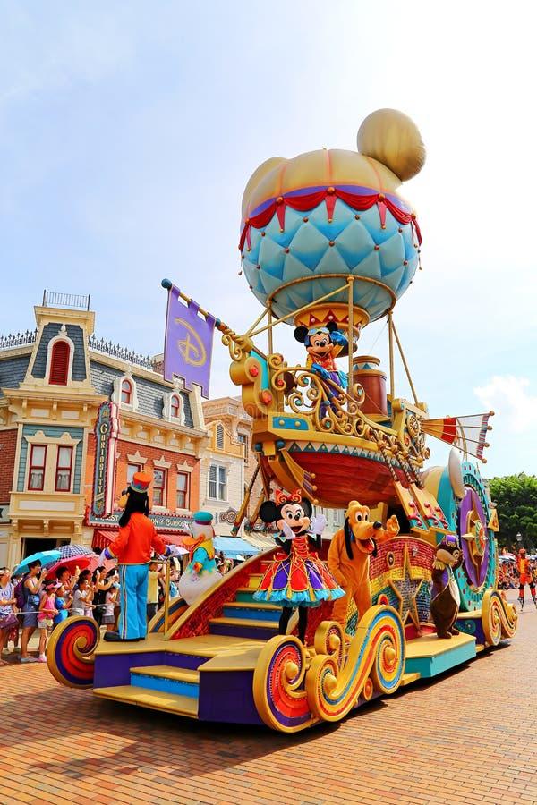 Disney parade with goofy, pluto, mickey & minnie mouse royalty free stock photos