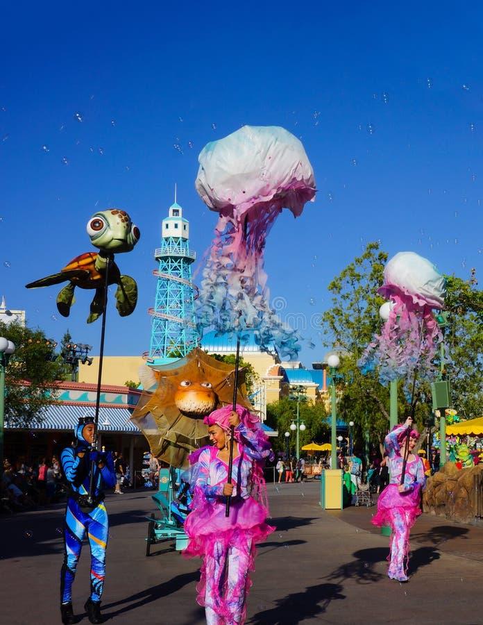 Disney parade Nemo Pixar Characters royalty-vrije stock afbeeldingen