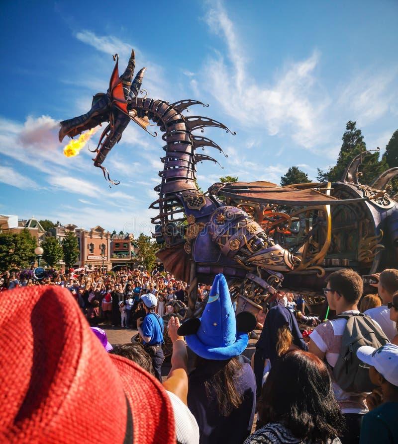 Disney-Parade in Parijs royalty-vrije stock afbeeldingen