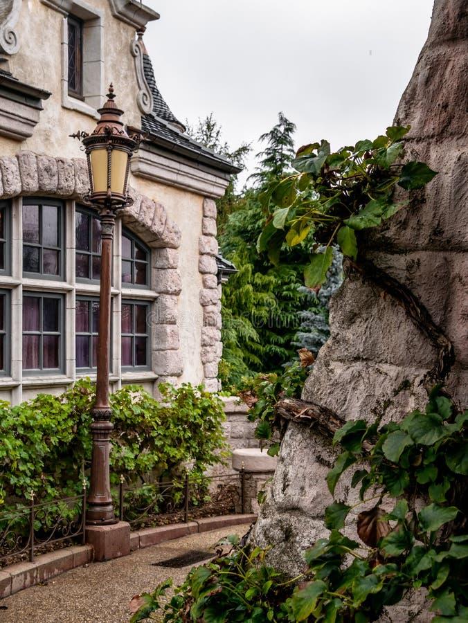 Disney park architecture stock images