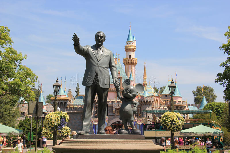Disney Partnes Statue at Disneyland royalty free stock image