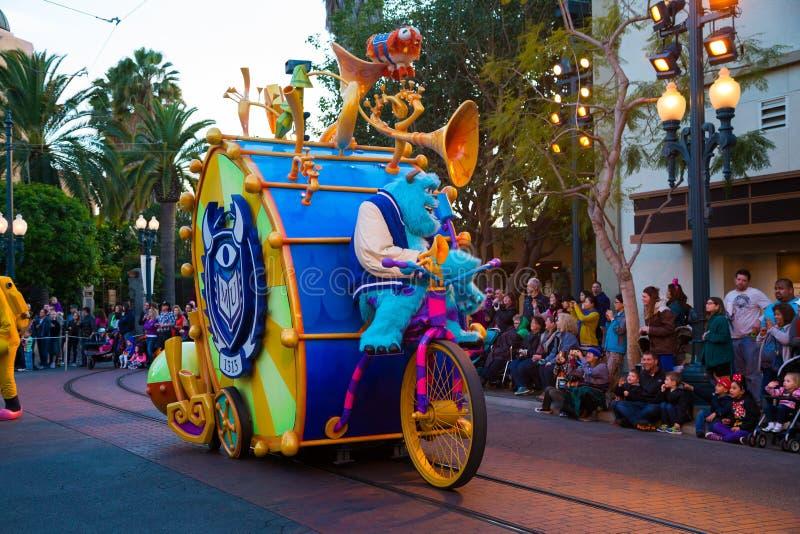 Disney Pixar Parade California Adventure royalty free stock photo
