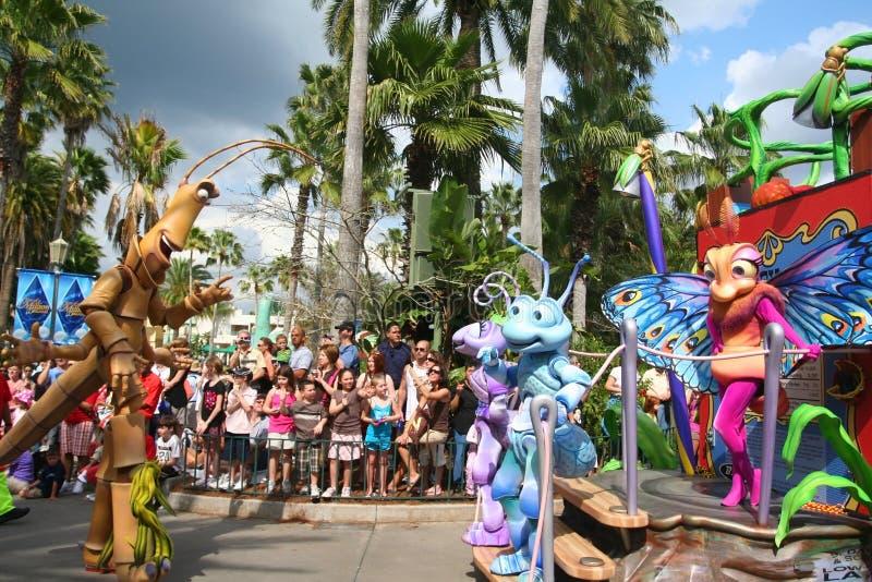 Disney pluskw życia parada w Disneyworld obraz stock