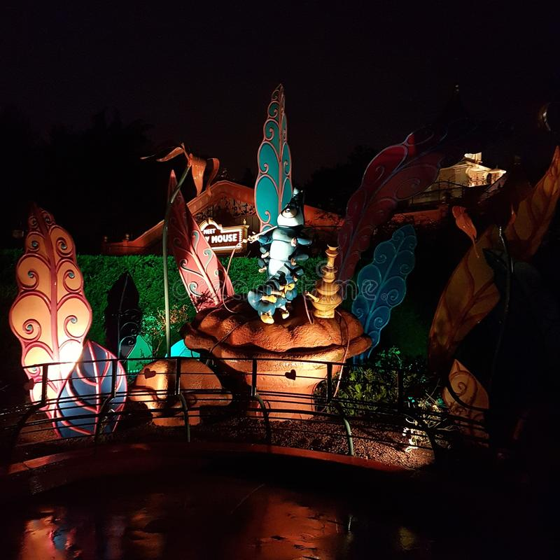 Disney por noche fotografía de archivo libre de regalías