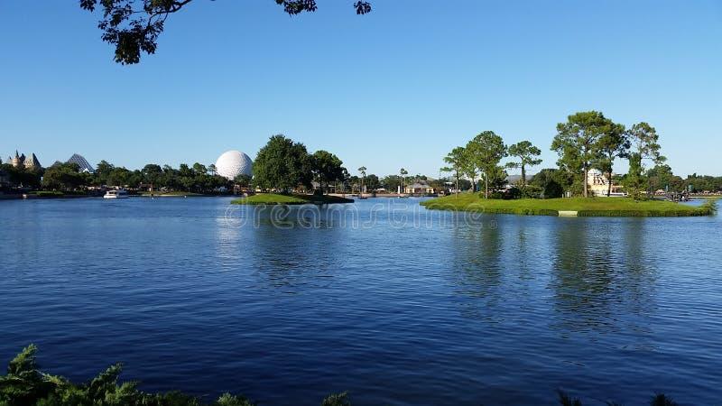 Disney's EPCOT Lake view stock image