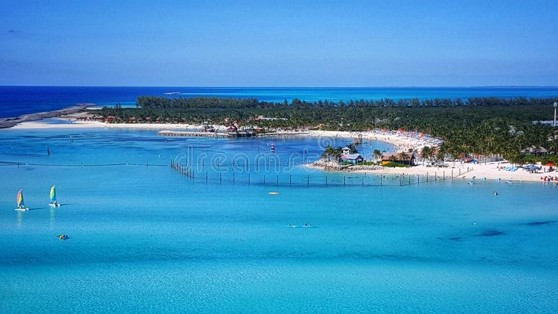 Castaway Cay. Disney& x27;s private island Castaway Cay located in the Bahamas stock image