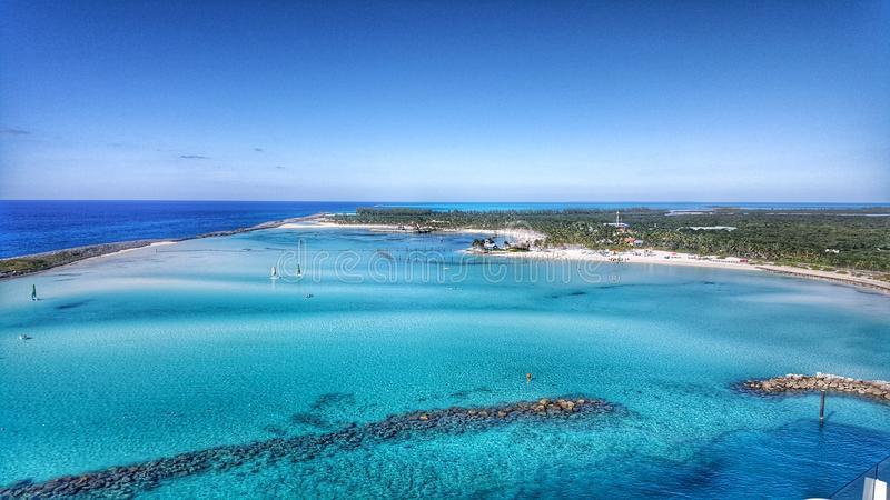 Castaway Cay. Disney& x27;s private island Castaway Cay located in the Bahamas stock images