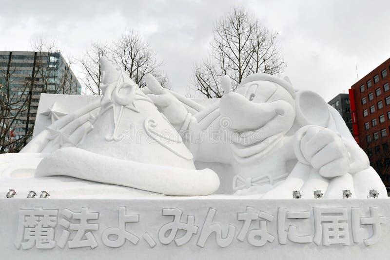 Disney-Schnee Sulpture stockbilder