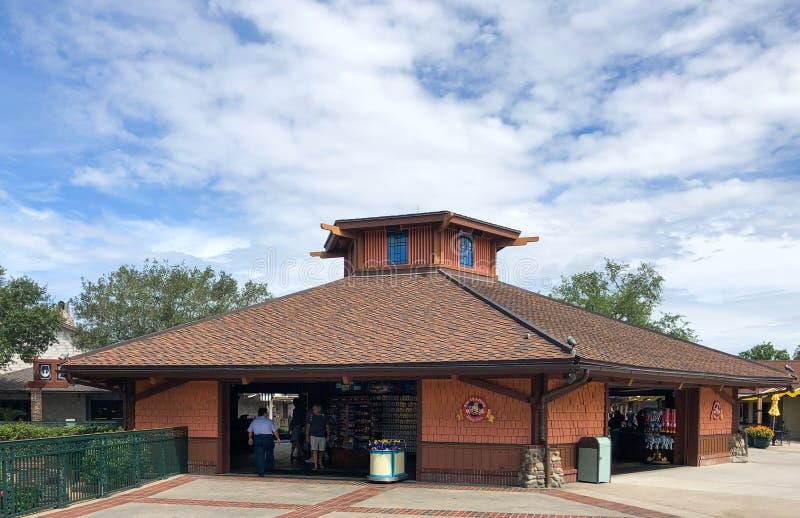 Disney Souvenir Pin Store. Located in Disney Springs, Orlando, Florida royalty free stock photography