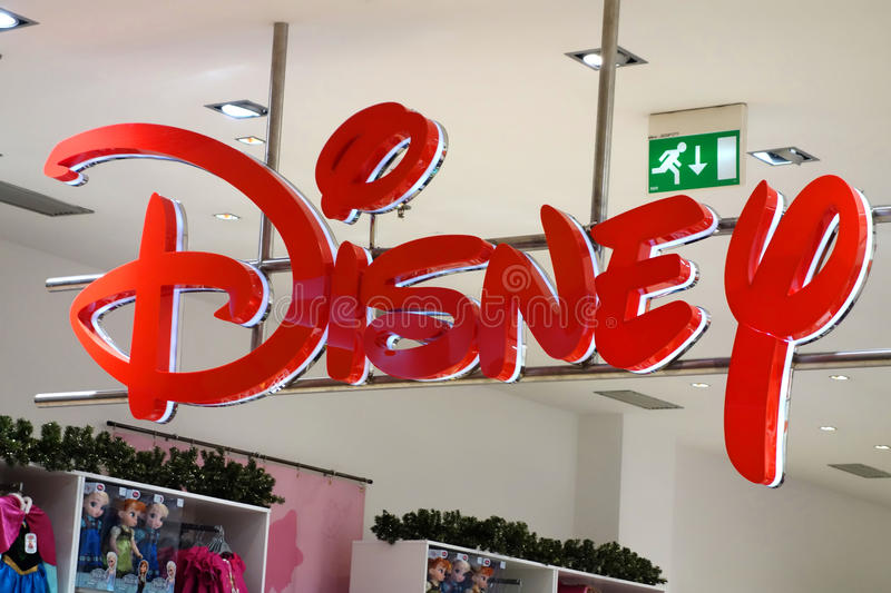 Download Disney Store Sign editorial stock image. Image of famous - 34955534