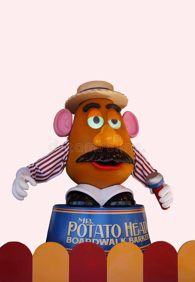 Disney Toy Story Mr Potato Head. Don Rickles is the voice for the animated character Mr Potato Head in the Walt Disney - Pixar animated film Toy Story. The royalty free stock image