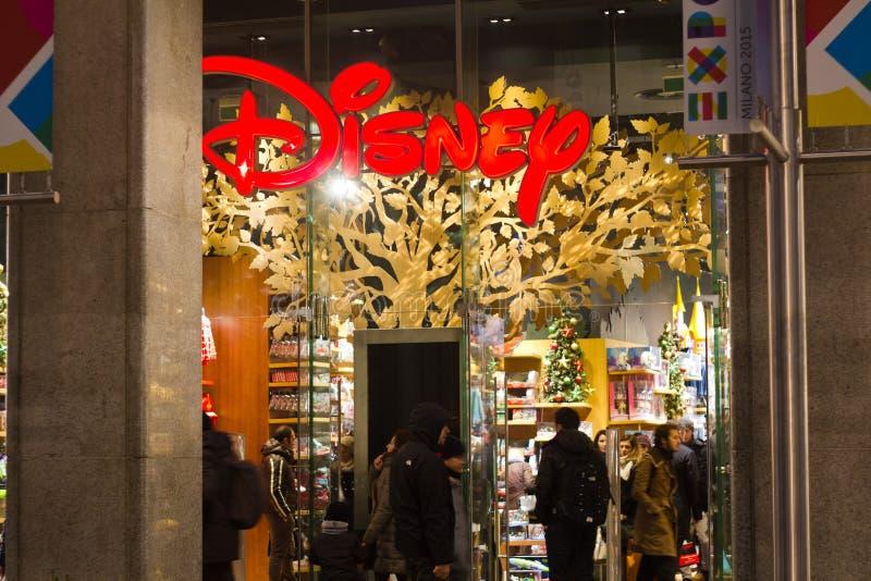 Disney toys store. In Milan, Italy stock image