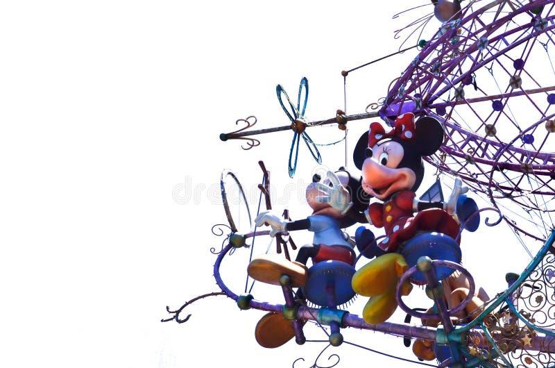Disney van de binnenstad Mickey en Minnie Mouse stock afbeelding