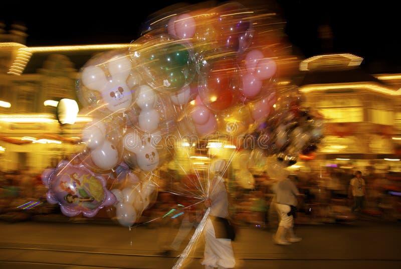 Disney-Welt nachts stockfoto
