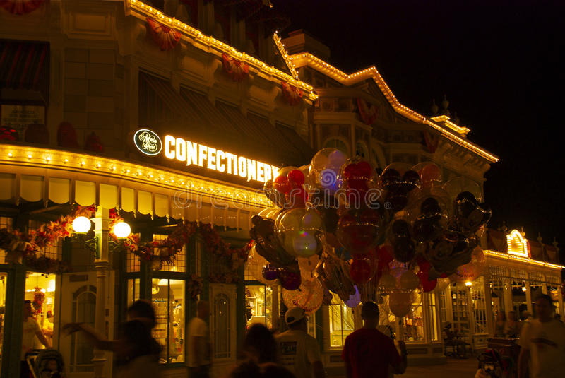 Disney-Welt nachts lizenzfreie stockbilder