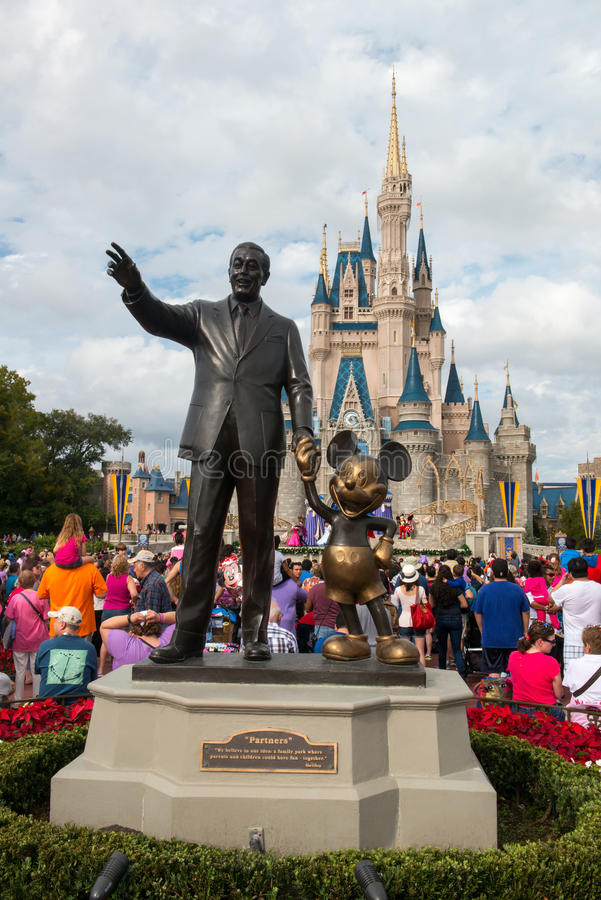 Disney-Wereld Mickey Mouse Statue, Orlando Florida Travel stock afbeelding