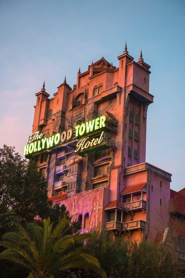 Disney-Wereldtoren van Verschrikking, Reis stock afbeeldingen