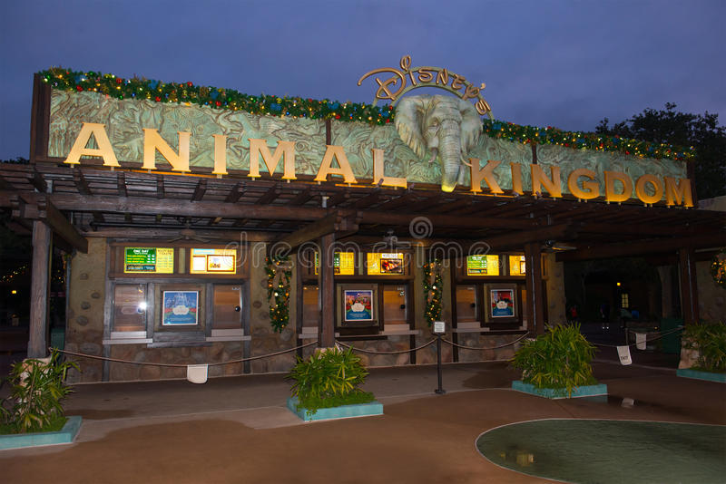 Disney World Animal Kingdom Entrance. Entrance to the Animal Kingdom at Walt Disney World. Orlando, Florida is a popular travel destination for people and royalty free stock image