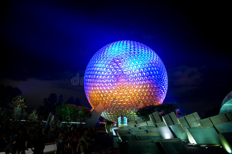 Disney World Epcot Center Spaceship Earth royalty free stock photography