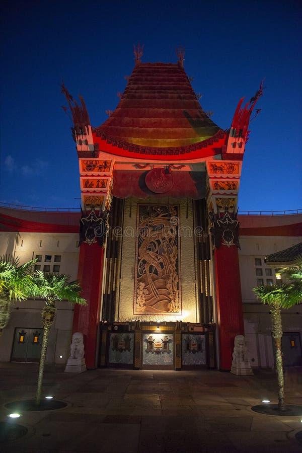 Disney World, estúdios de Hollywood, teatro chinês fotos de stock
