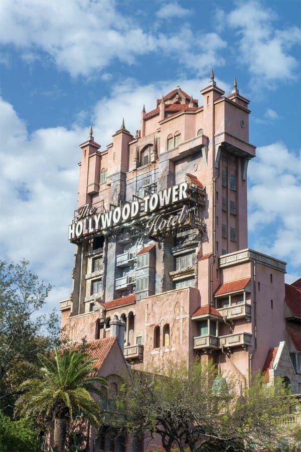 Disney World, estudios de Hollywood, torre del terror, viaje la Florida fotografía de archivo
