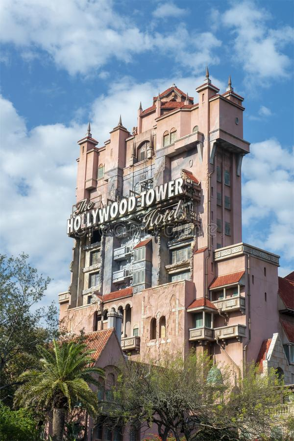 Disney World, Hollywood-Studio's, Toren van Verschrikking, Reis Florida stock fotografie