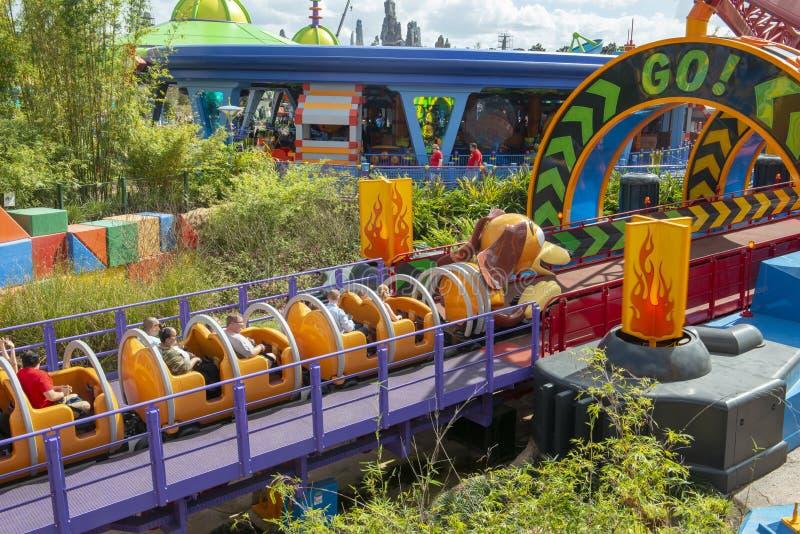 Disney World, Hollywood Studios, Slinky Dog Roller Coaster, Travel, Florida royalty free stock images
