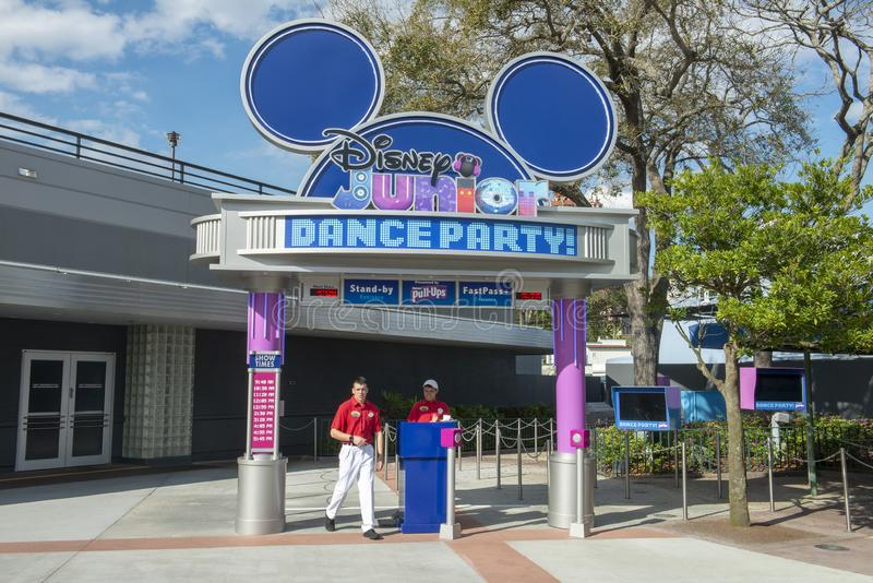 Disney World Junior Dance Party, Reis stock foto