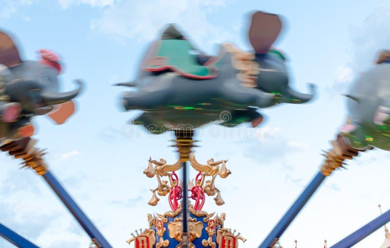 Disney world Magic Kingdom Dumbo Ride. Dumbo whirl ride at Disneyland Park Orlando Florida royalty free stock photo