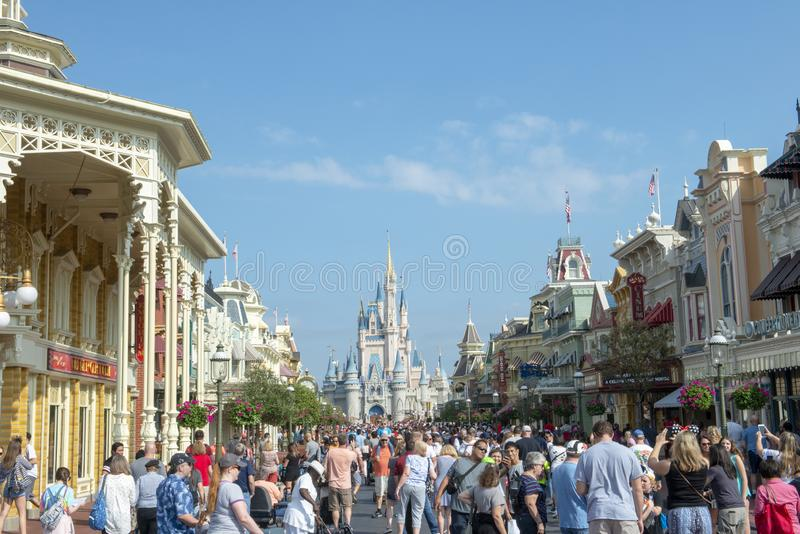 Disney World, Magisch Koninkrijk, Reis, Florida stock foto