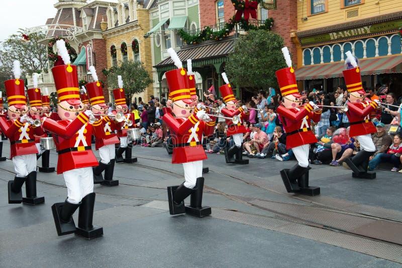 Disney Zabawkarskich żołnierzy Światowa parada obraz royalty free