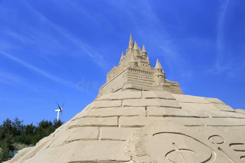 Disney ziehen sich Sandskulptur zurück lizenzfreie stockbilder