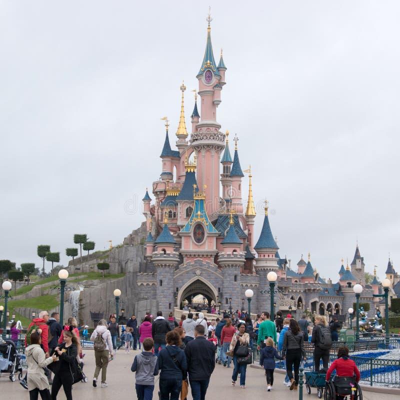 Disneyl?andia Paris 1? Anniversarry fotografia de stock royalty free