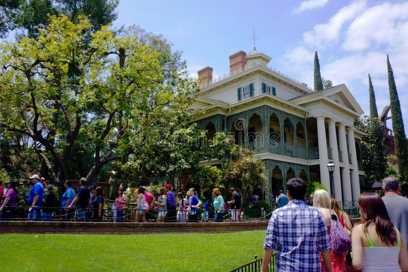 Disneyland Achtervolgd Herenhuis Anaheim royalty-vrije stock foto's