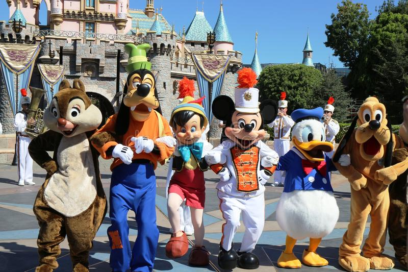 Disneyland Anaheim stockbild
