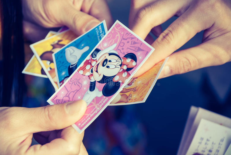 Disneyland biljett fotografering för bildbyråer