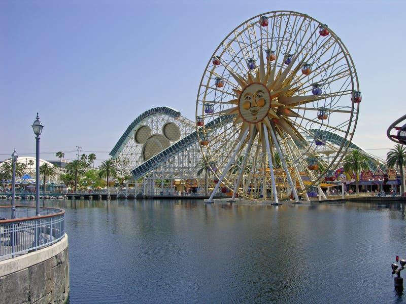 Disneyland Californië Avontuur stock foto's
