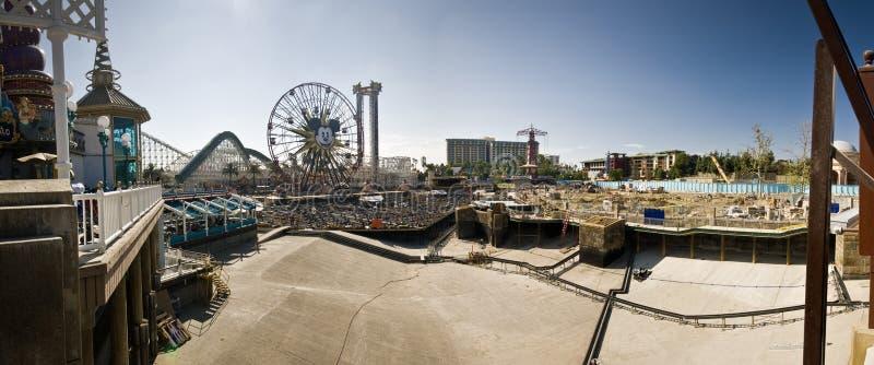 Disneyland California Adventure Construction Panor royalty free stock photo