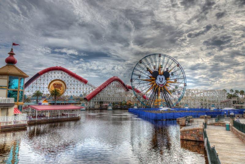 Disneyland Park Pixar Pier 2018 stock image