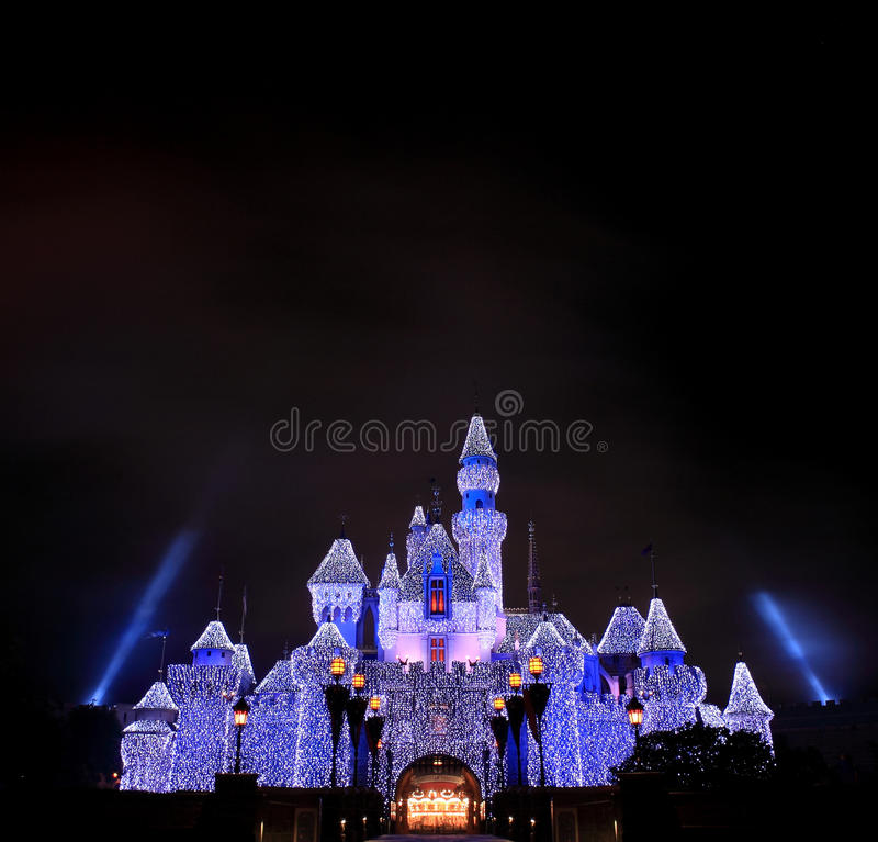 Disneyland castle royalty free stock photography