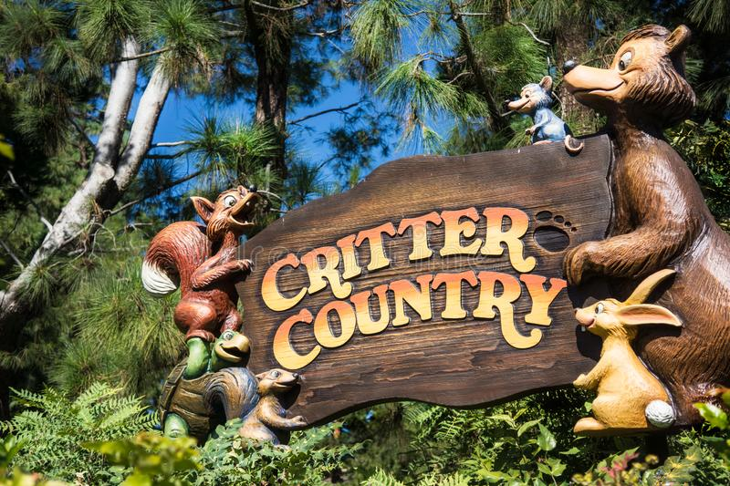 Disneyland Critter Country stock photography