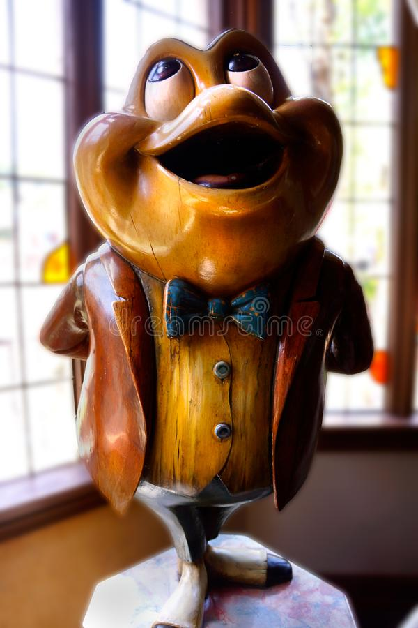 Disneyland Fantasyland Mr Toad Statue Vertical. Disneyland Fantasyland Mr Toad`s Wild Ride is one of the original at Disneyland. The interior features a wooden royalty free stock photo