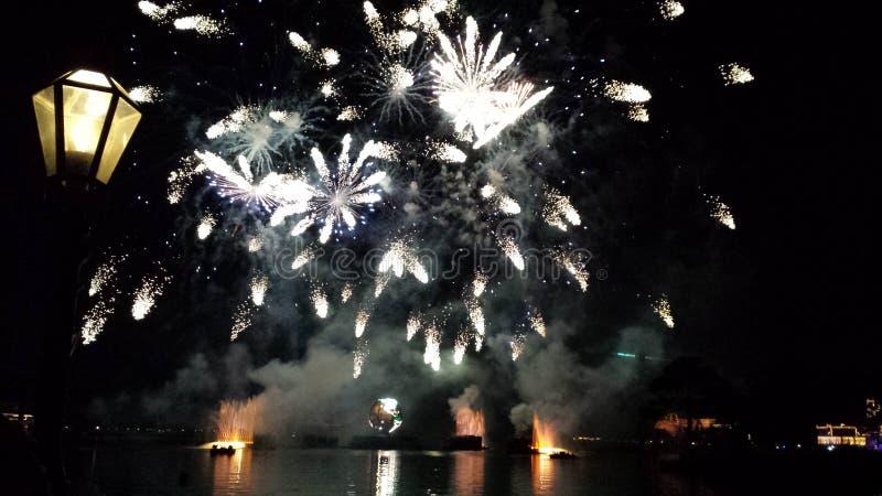 Disneyland-Feuerwerk lizenzfreie stockfotografie