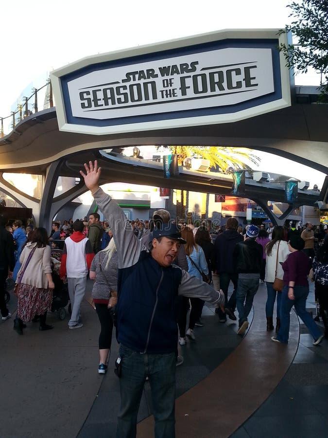 Disneyland goer royalty free stock photos
