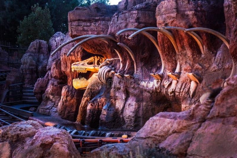 Disneyland grzmotu Duża linia kolejowa obraz stock