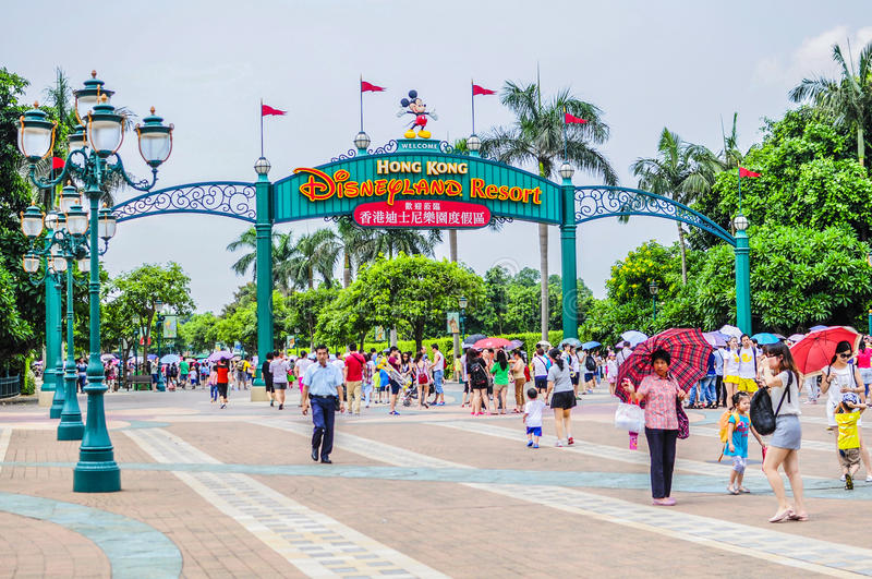 Disneyland, Hong Kong image stock