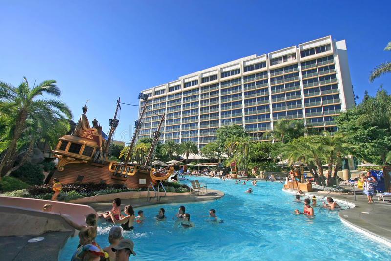 Disneyland Hotel stock foto's